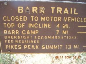 Day 3.0 08-10-07 Colorado - Barr Camp 003
