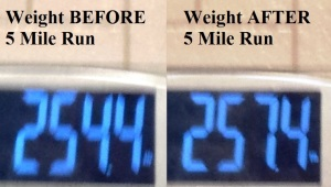 Before and After 5 Mile Run
