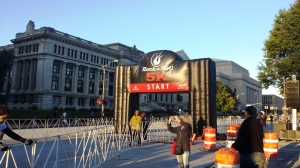 5k Start Line - I think I heard the announcer say there were over 1,500 people in this race