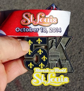 The Ribbon was really nice on this medal and I've never had one before that said 5K on it like this before :)