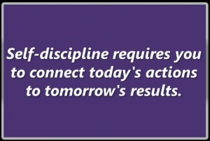 self discipline requires