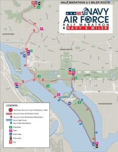 Washington DC NAF course map
