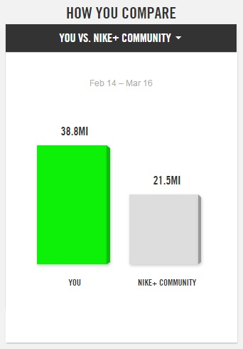 Nike+ you vs community