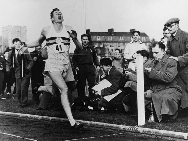 May 6, 1954 Roger Bannister Breaks the 4 minute barrier with a time of 3:59.4
